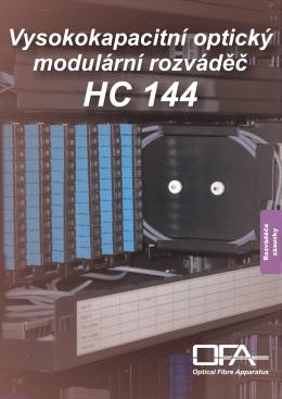Vysokokapacitní optický modulární rozváděč