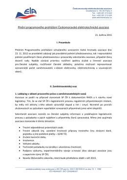 Programové prohlášení - Českomoravská elektrotechnická asociace