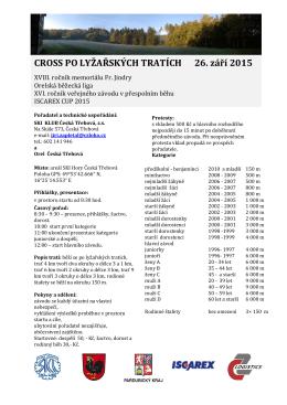 Propozice pořadatele ve formátu PDF