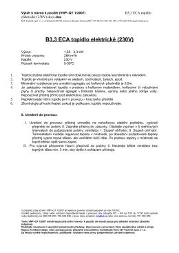B3,3 ECA topidlo elektrické (230V)