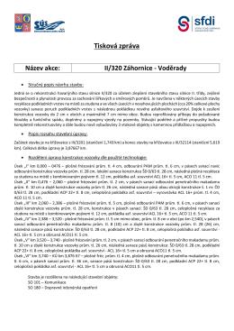 Tisková zpráva Název akce: II/320 Záhornice