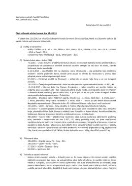Zápis z členské schůze 12.6.2015