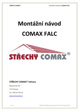 Montážní návod COMAX FALC
