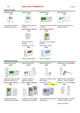 bezdrátové a programovatelné termostaty