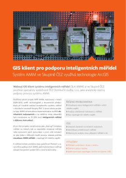 GIS klient pro podporu inteligentních měřidel v