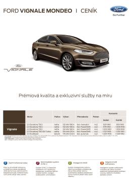 Ceník nového Fordu Vignale Mondeo