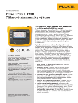 Fluke 1736 and 1738 Three-Phase Power Loggers