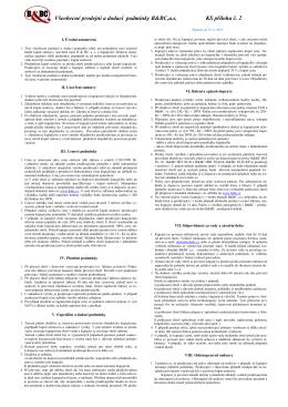 Všeobecné prodejní a obchodní podmínky 2015