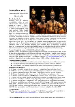 Antropologie umění - Univerzita Karlova