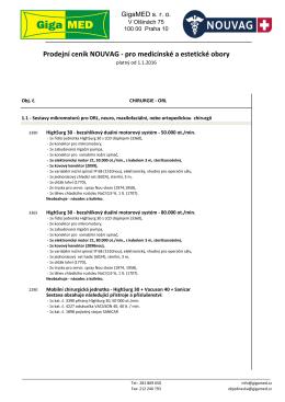 podrobný popis pro medicínské a estetické obory.