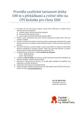 pravidla CPS Košutka