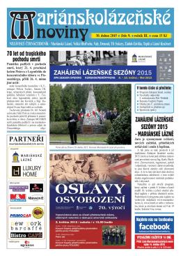 30. duben 2015 - Marianskelazne.TV