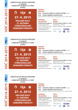 SOČ 2014-2015 SOČ 2014-2015 SOČ 2014-2015