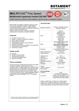 Technický list - Botament Systembaustoffe