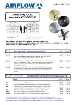 Ventilátory iCON, osoušeče ECODRY 550