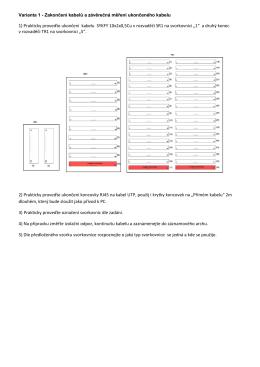 1) Prakticky proveďte ukončení kabelu SYKFY 10x2x0,5Cu