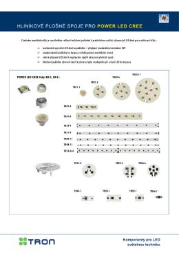 Hliníkové plošné spoje MCPCB pro POWER LED seznam