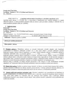 Smlouva - Svazek obcí Čistá Odra