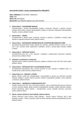 Maturitní otázky EKO, UCE