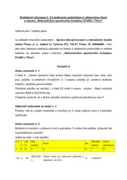 Dodatečné informace č. 5