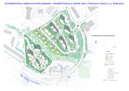 Architektonická studie zástavby v lokalitě Krokova