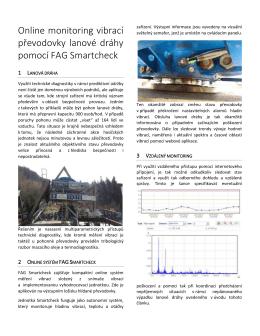 Online monitoring vibrací převodovky lanové dráhy pomocí FAG