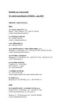 Seznam vystavovatelů/ List of exhibitors