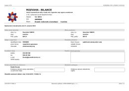 ROZVAHA - BILANCE - Obec Lesní Jakubov