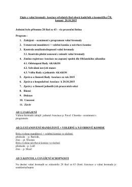 Zápis z valné hromady Asociace středních škol - Web