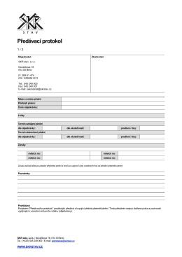 SKR - predavaci protokol