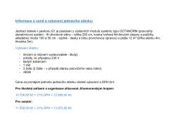 Informace o ceně a vybavení jednacího stánku: