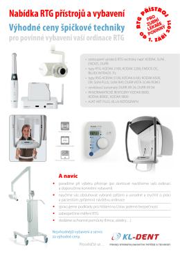 Nabídka RTG přístrojů a vybavení - KL-DENT