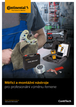 Měřicí a montážní nástroje pro profesionální výměnu