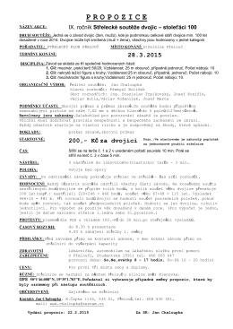 Stoleťáci 2015 – propozice