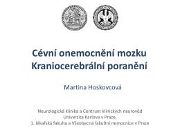 Cévní onemocnění mozku, kraniocerebrální poranění