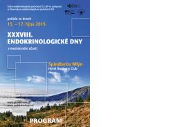 38. endokrinologické dny 2015 - PROGRAM