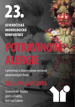 potravinová alergie 18. a 19. září 2015