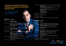 Víkendový seminář s poslancem Evropského parlamentu Tomášem