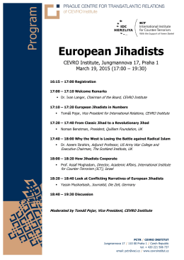 Program – European Jihadists