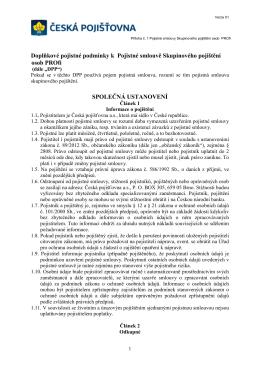 Příloha Ċ. 1 Rámcové smlouvy o kolektivním