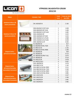 výprodej skladových zásob 2015/10 výprodej skladových zásob