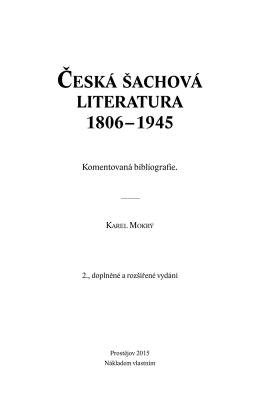 Česká šachová literatura 1806–1945