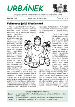 Urbánek 1/2015 - Římskokatolická farnost Slavkov u Brna