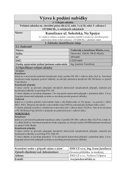 Kanalizace ul. Sokolská, Na Spojce