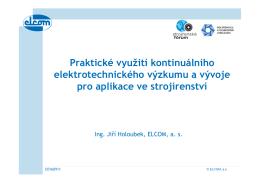 Praktické využití kontinuálního elektrotechnického výzkumu a