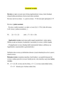 Lineární rovnice