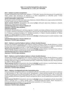 Zápis z 8. jednání zastupitelstva obce Janová konaného dne 13.5