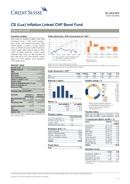 CS (Lux) Inflation Linked CHF Bond Fund