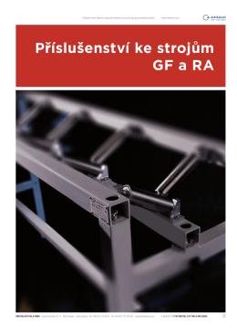 Příslušenství ke strojům GF a RA