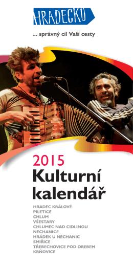 Kulturní kalendář 2015
